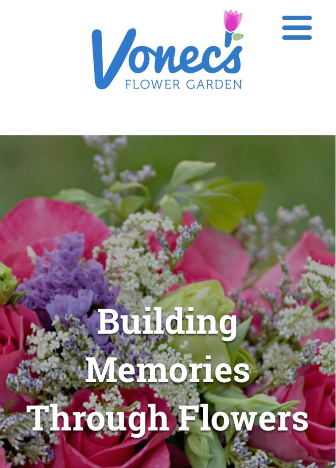 This is what will greet you upon going to the website of Vonec's Flower Garden. The photo changes to showcase her many other designs. Please checkout her website link below.