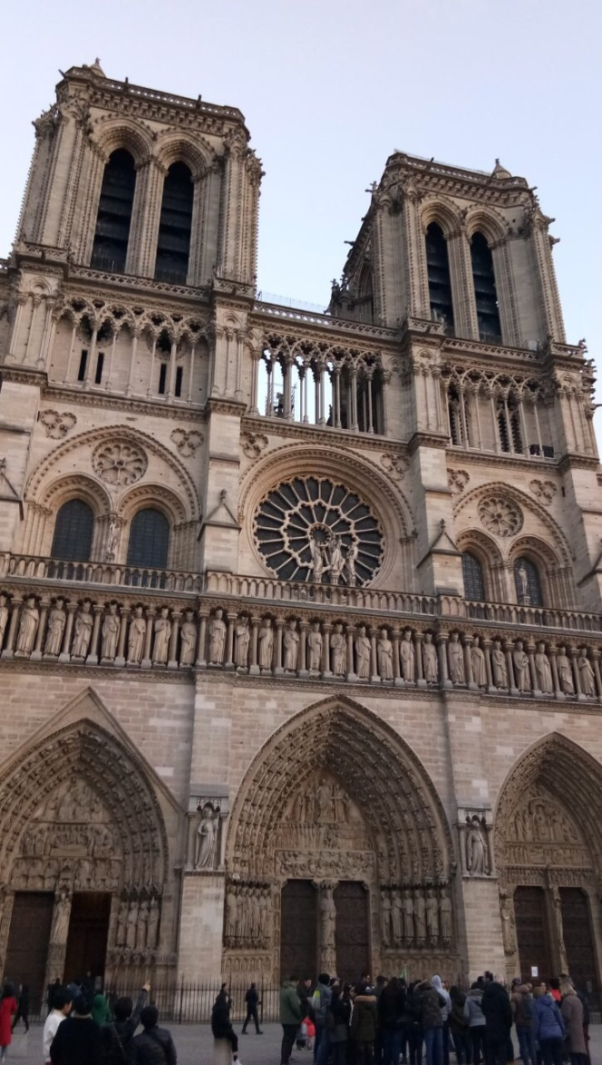 The bell towers of Notre Dame